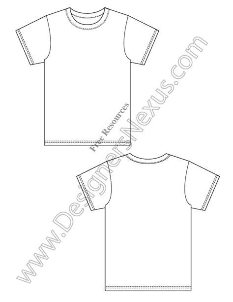 blank  shirt design template vector flat sketch