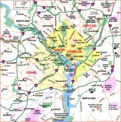 us map that shows washington dc district of columbia map