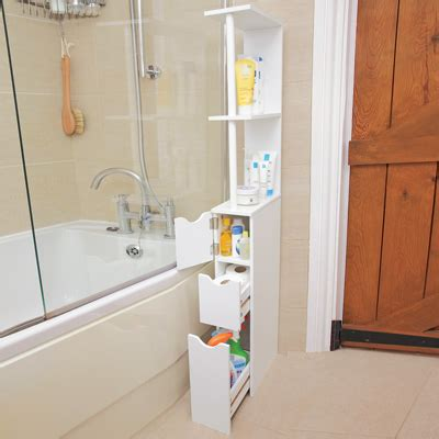 bathroom storage tower tall slim space saver cabinet from