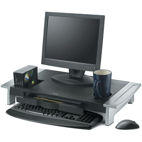 Computer Desk Monitor Stand New Adjustable Computer Stand Desk Storage Drawer Holder Office Laptop Fastpro Ebay