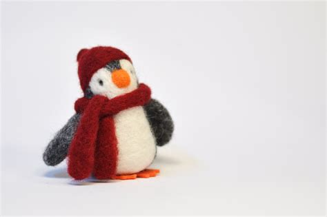 needle felted christmas penguin christmas decoration babys