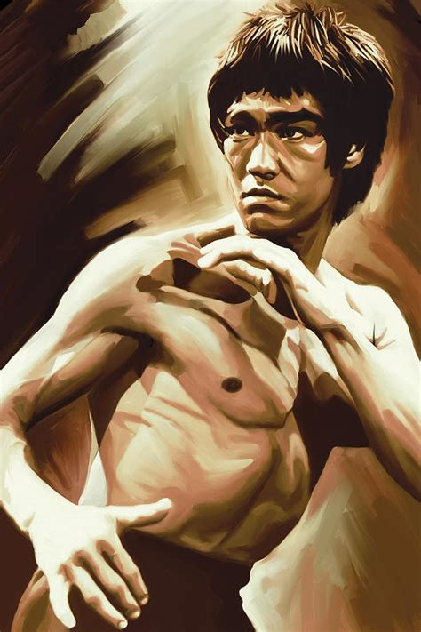 Home Decor Blogs 2014 by Bruce Lee Artwork Painting By Sheraz A