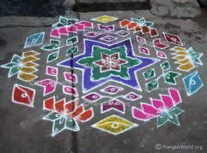 Lotus Rangoli With Dots Lotus Kolam Designs Gallery