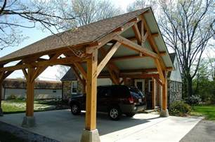 Porte Cochere   Craftsman   Garage   Nashville   by Homestead Timber Frames