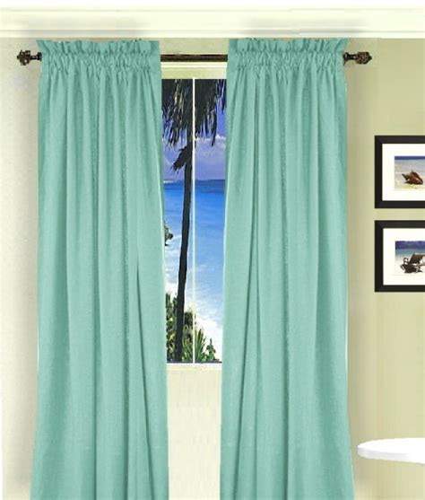 Solid Mint Green Colored French Door Curtain Available In