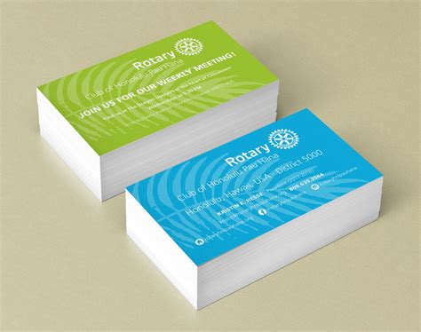 Rotary Business Card Template by Business Cards Designpoint Inc