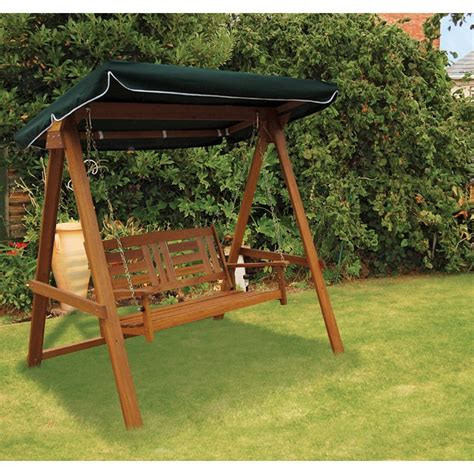buy garden swing dalamere hardwood garden swing buy online at qd stores