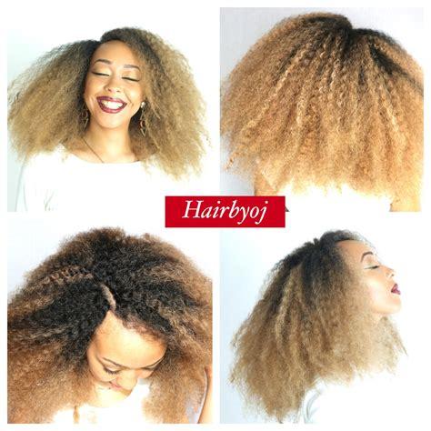 blonde marley crochet hair shoulder length blonde marley ombre crochet braids with