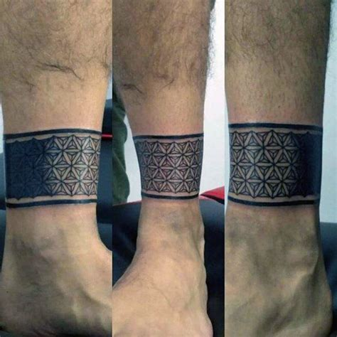 ankle tribal band tattoos 60 ankle band tattoos for lower leg design ideas