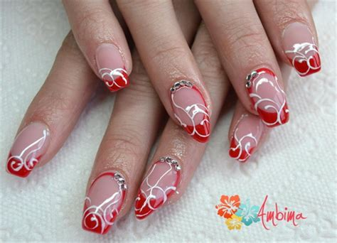 Nägel Rot by Gel Nails Nail Gallery