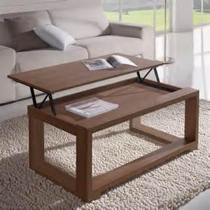Délicieux Table De Salon Pliante #1: Table-basse-relevable-noyer-cadre-noyer.jpg