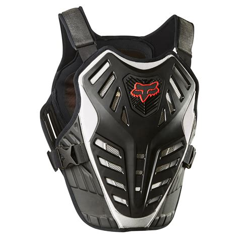 fox motocross chest protector fox mx chest protector titan race black silver 2018