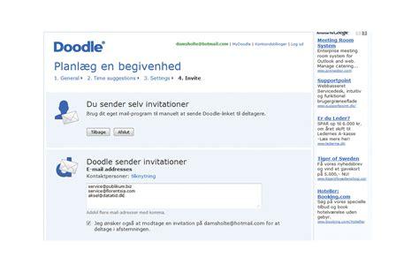 doodle poll tableview inviter dine venner til p 229 den fede m 229 de alt om