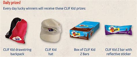 Win Prizes Sweepstakes - clif kids prizes sweepstakes and instant win game thrifty momma ramblings
