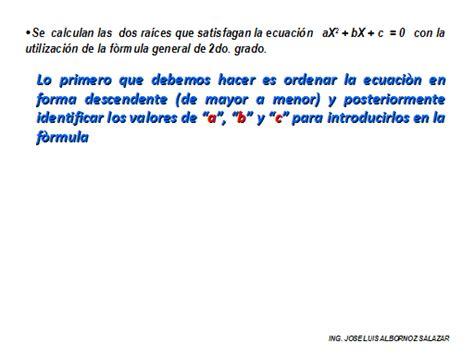 Que Es Un Grado Mba by Factorizaci 243 N Utilizando La F 243 Rmula General De Segundo