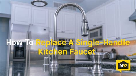 how to replace a single handle kitchen faucet how to replace a single handle kitchen faucet