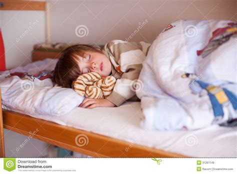 In Bed With The by Boy Sleeping On Bunk Bed Stock Image Image Of Csite