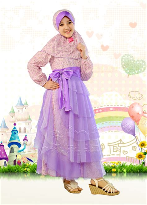Baju Muslim Jilbab Anak Olen Merah baju muslim anak perempuan terbaru 2015 jual baju muslim