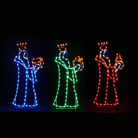 led three kings nativity led light display 6