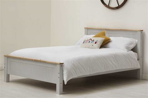 Tatton Grey Wooden Bed Frame Single Double King Size Grey Bed Frame