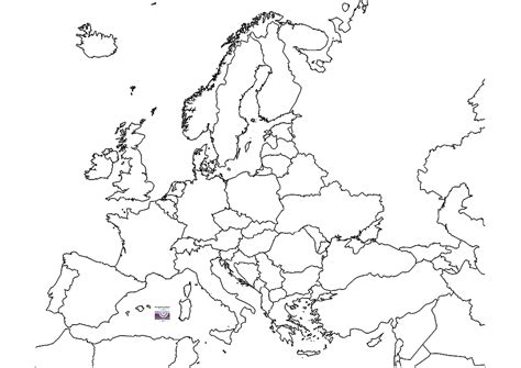 europe outline map with country names 2 cad and bim object europe map polantis