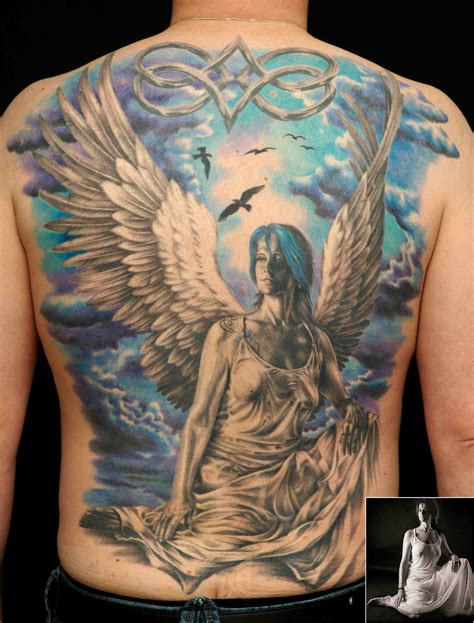 angel tattoo at the back back tattoos and designs page 412