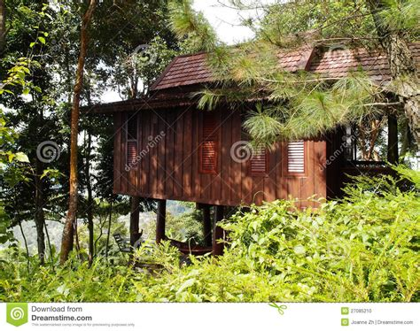 thai homes thai style wooden house in the hills stock photo image