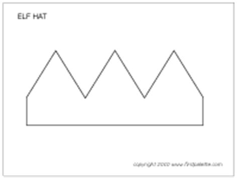 pattern for paper elf hat elf hat printable templates coloring pages