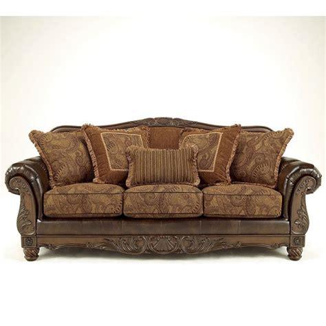 ashley fresco durablend antique sofa fresco durablend antique sofa signature design by ashley