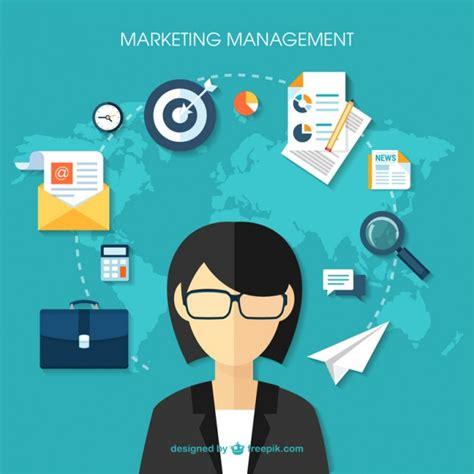 design management and marketing marketing management vector free download