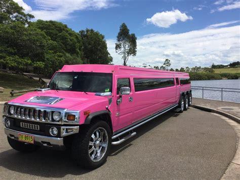 sydney hummer hummer 20 seat pink stretch h2 limousines sydney