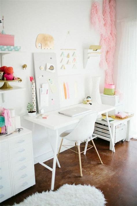 which of these is a home office pastel offices and inspiration on pinterest