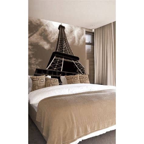 eiffel tower wallpaper for bedroom eiffel tower paste the wall mural by brewster 99081