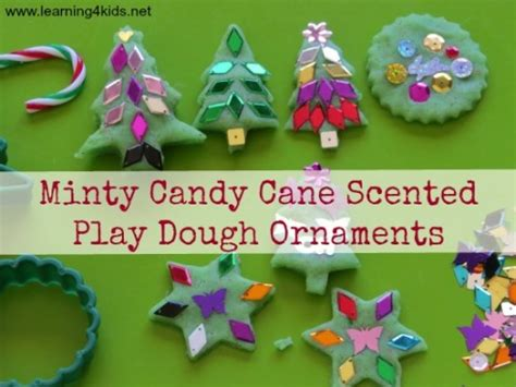 make play dough ornaments minty scented play dough ornaments learning 4