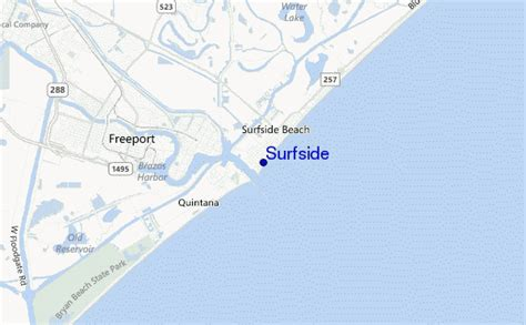 surfside texas map surfside surf forecast and surf reports texas usa