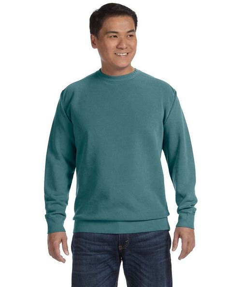 comfort colors blue spruce comfort colors 1566 garment dyed fleece crew