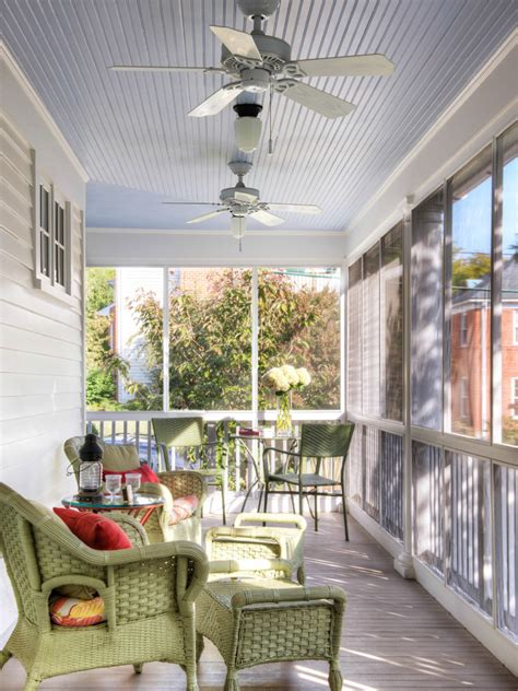 Design For Screened Porch Furniture Ideas Screen Porch Furniture Traditional With Wood Ceiling Energy Fans