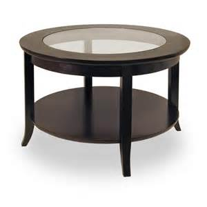 coffee table furniture endearing round dark espresso mahogany wood
