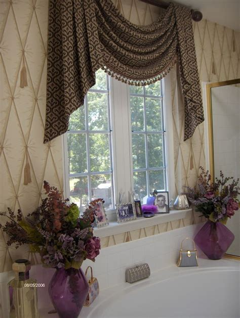 master bathroom window treatment curtain ideas
