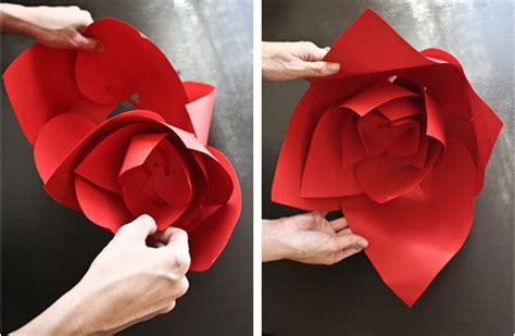 huge paper flower tutorial large paper flowers to make