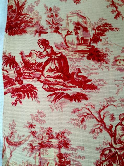 french country upholstery fabric red french toile drapery upholstery fabric cotton waverly