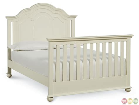 Charlotte Antique White Traditional Convertible Crib White Convertable Crib