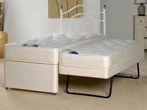 Cheap Guest Bed With Mattress Apollo Lakonia 3 Single Coil Sprung 2 In 1 Divan Guest