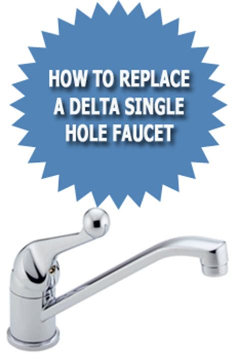 how to replace a delta single faucet