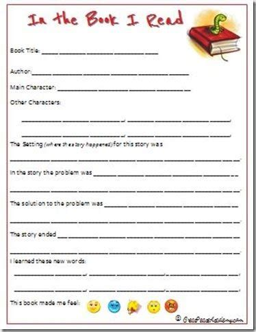 book report template 3rd grade printable homeschool literary guides guide book free
