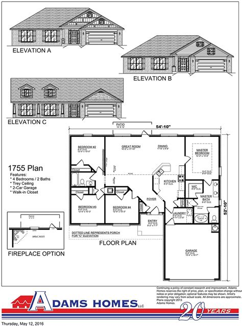 Melody Homes Floor Plans Hidden Forest Adams Homes