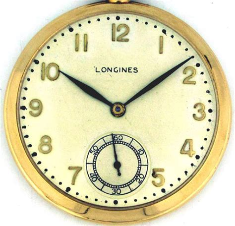 1935 vintage longines 14k yellow gold pocket with