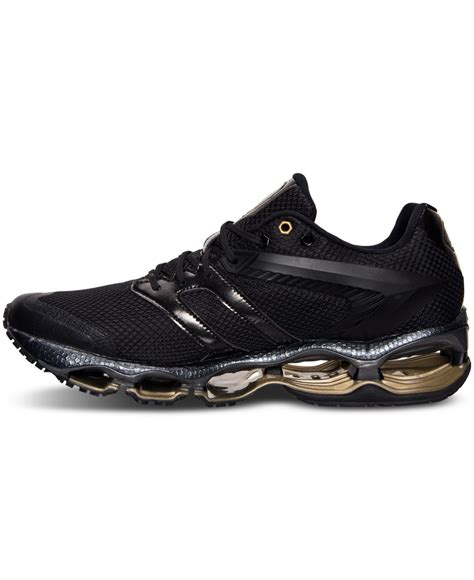 black mizuno running shoes mizuno s wave tenjin running sneakers from finish line