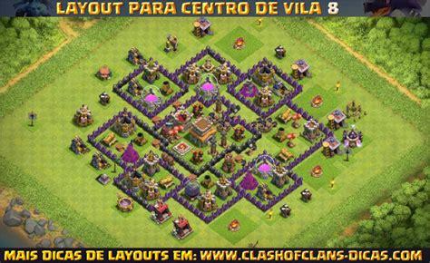 layout hibrido cv 8 2016 layouts de centro de vila 8 para clash of clans clash of