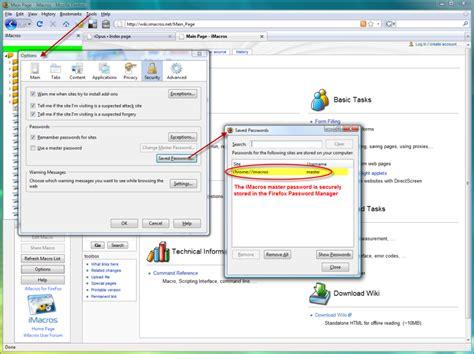 imacros tutorial form firefox password manager imacros